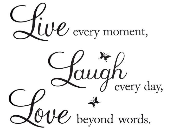 Live Laugh Love Wall Decal - Gadget City Club