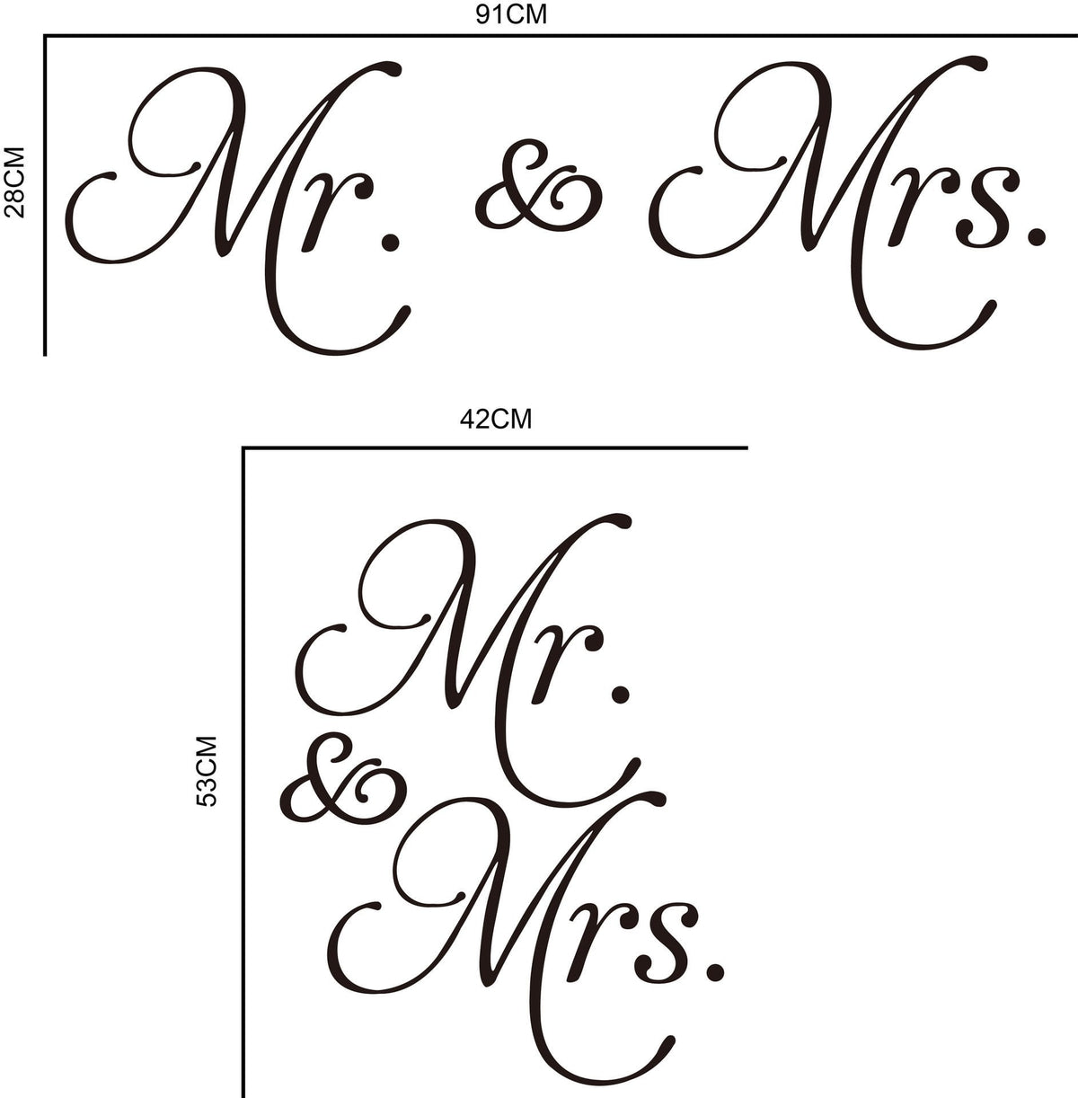 Mr & Mrs Love Wall Decal - Gadget City Club