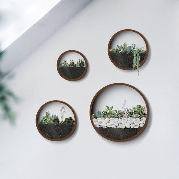 Round Iron Wall Vase - Gadget City Club