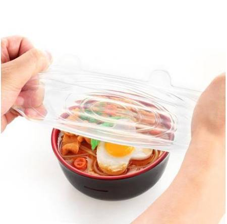 6PCS/Set Universal Stretch Suction Silicone Lids - Gadget City Club
