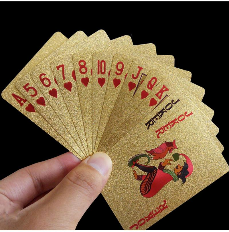 Golden Playing Cards - Gadget City Club
