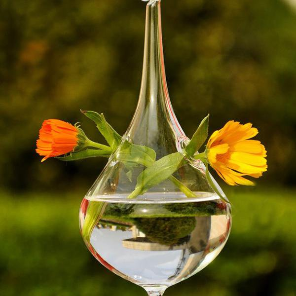 Water Drop Glass Hanging Flower Vase - Gadget City Club