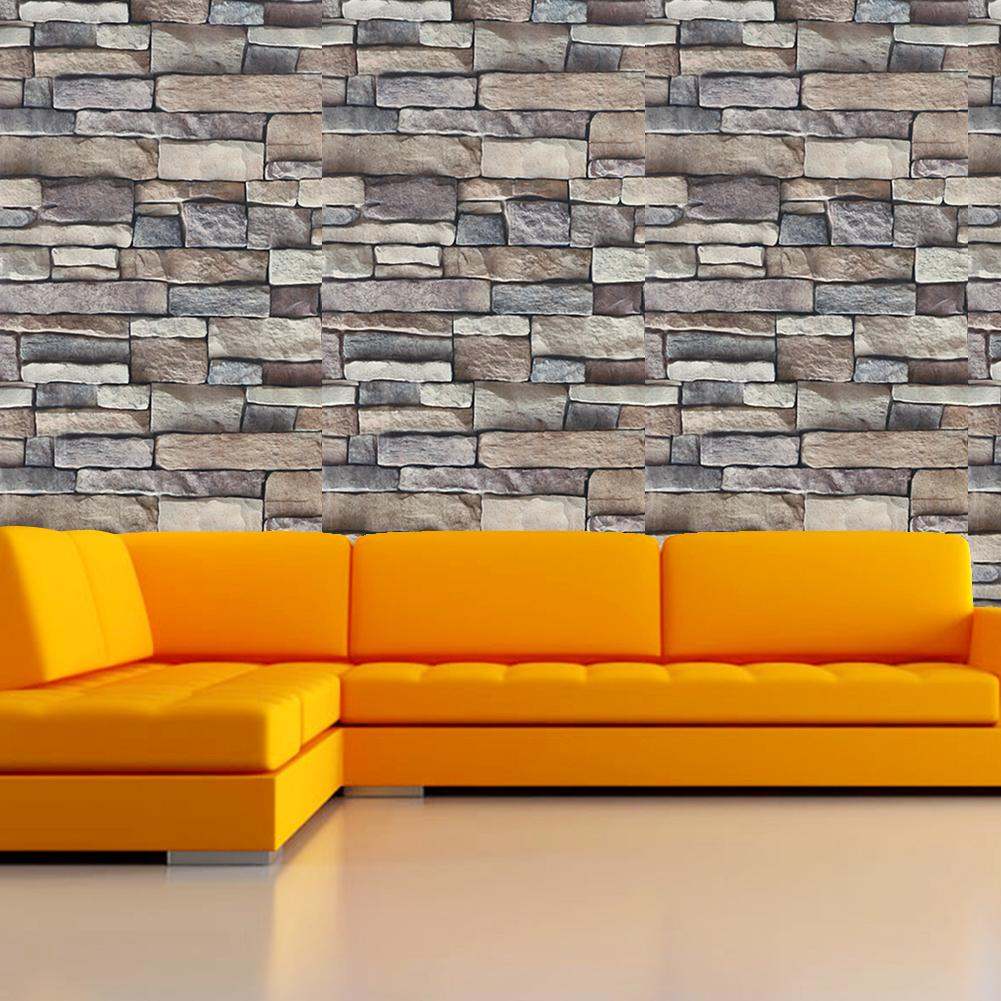 Brick Stone Wallpaper Stickers - Gadget City Club