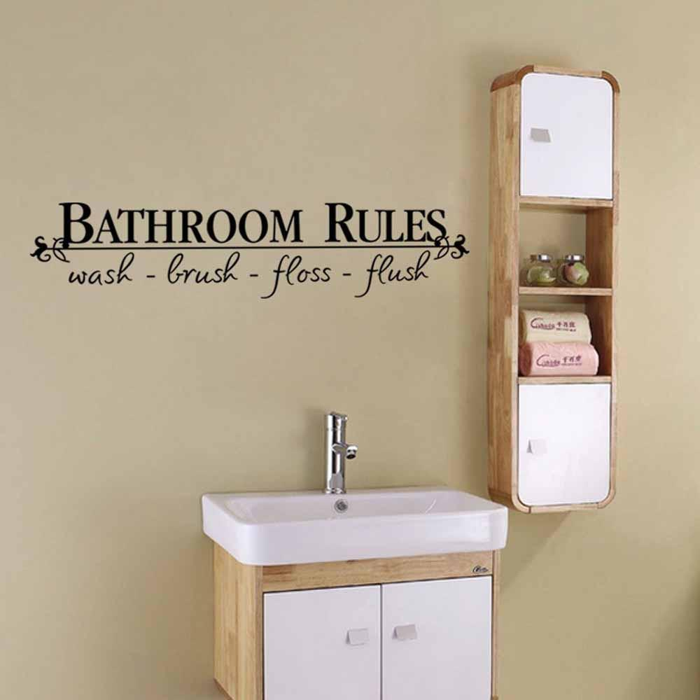 Bathroom Rules Wall Decal - Gadget City Club
