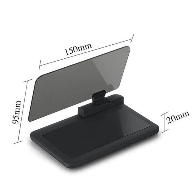 GPS Display Smartphone  Holder with Transparent Reflection - Gadget City Club
