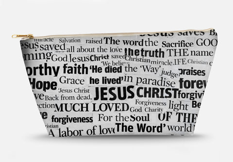 Jesus Newspaper Cutout Accessory Bag