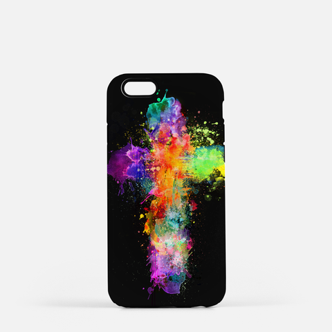 Cross of Color Cell Phone Case (Black)