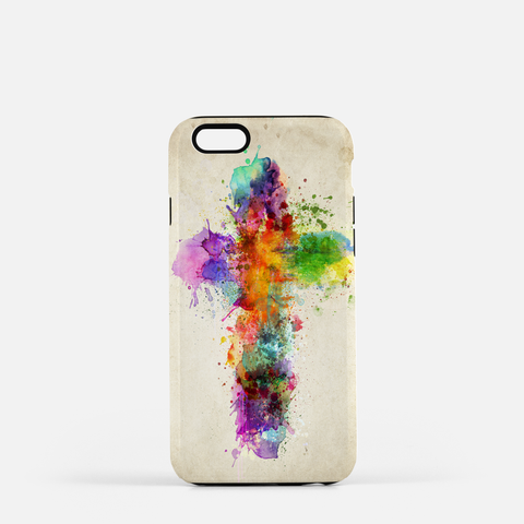 Cross of Color Cell Phone Case (white)