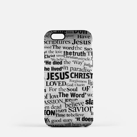 Jesus Newspaper Cutout Cell Phone Case