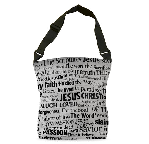 Jesus Newspaper Cutout Tote Bag