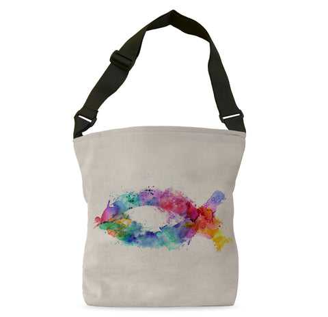 Fish Symbol of Color Tote Bag