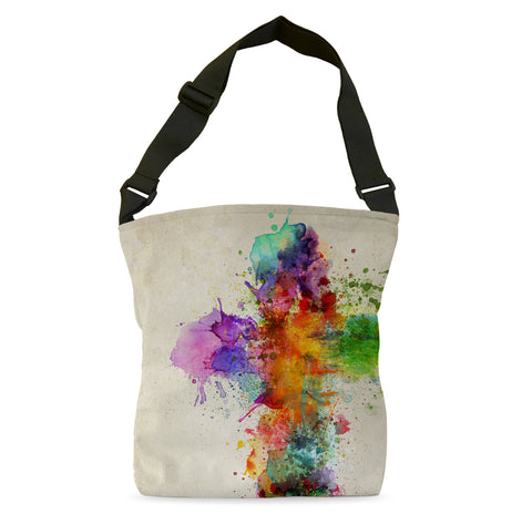 Cross of Color Tote Bag