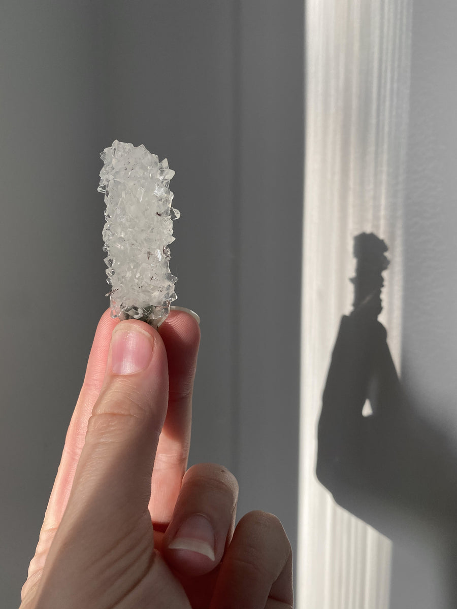 Clear Apophyllite on Chalcedony
