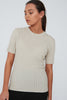 Revolve Knit Tee - Natural | Shop Marlow at Wallace & Gibbs NZ