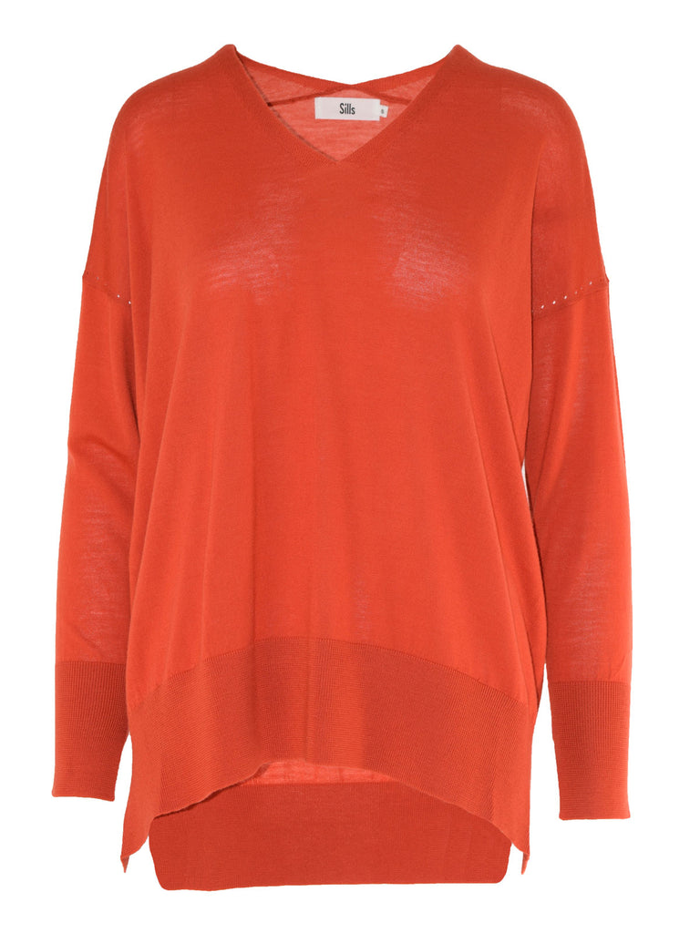 Sills Highgate V-Neck - Zanzibar Orange