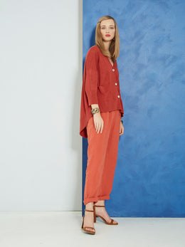 Sills Lorenzo Pant Burnt Orange | Shop Sills at Wallace & Gibbs