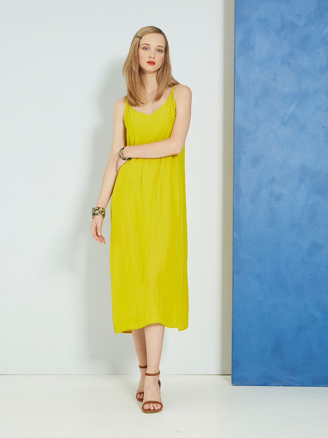 Sills Nelson Slip Dress Citrine