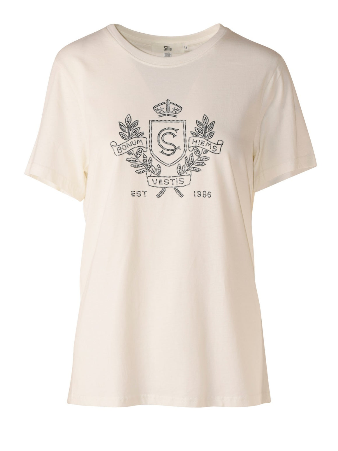 Sills Shield Tee - Ivory/Navy