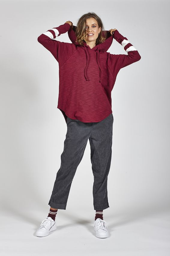 Ketz-ke Frontier Hoodie Merlot | Shop Ketz-ke at Wallace and Gibbs NZ