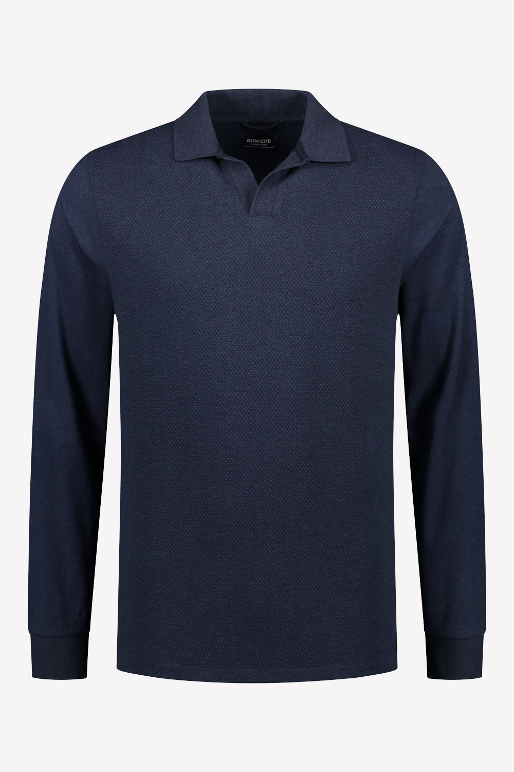 Mens L/S Honeycomb Stretch Polo | Shop Dstrezzed at Wallace and Gibbs