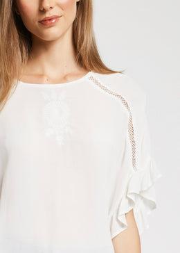 Womens Blouse - White