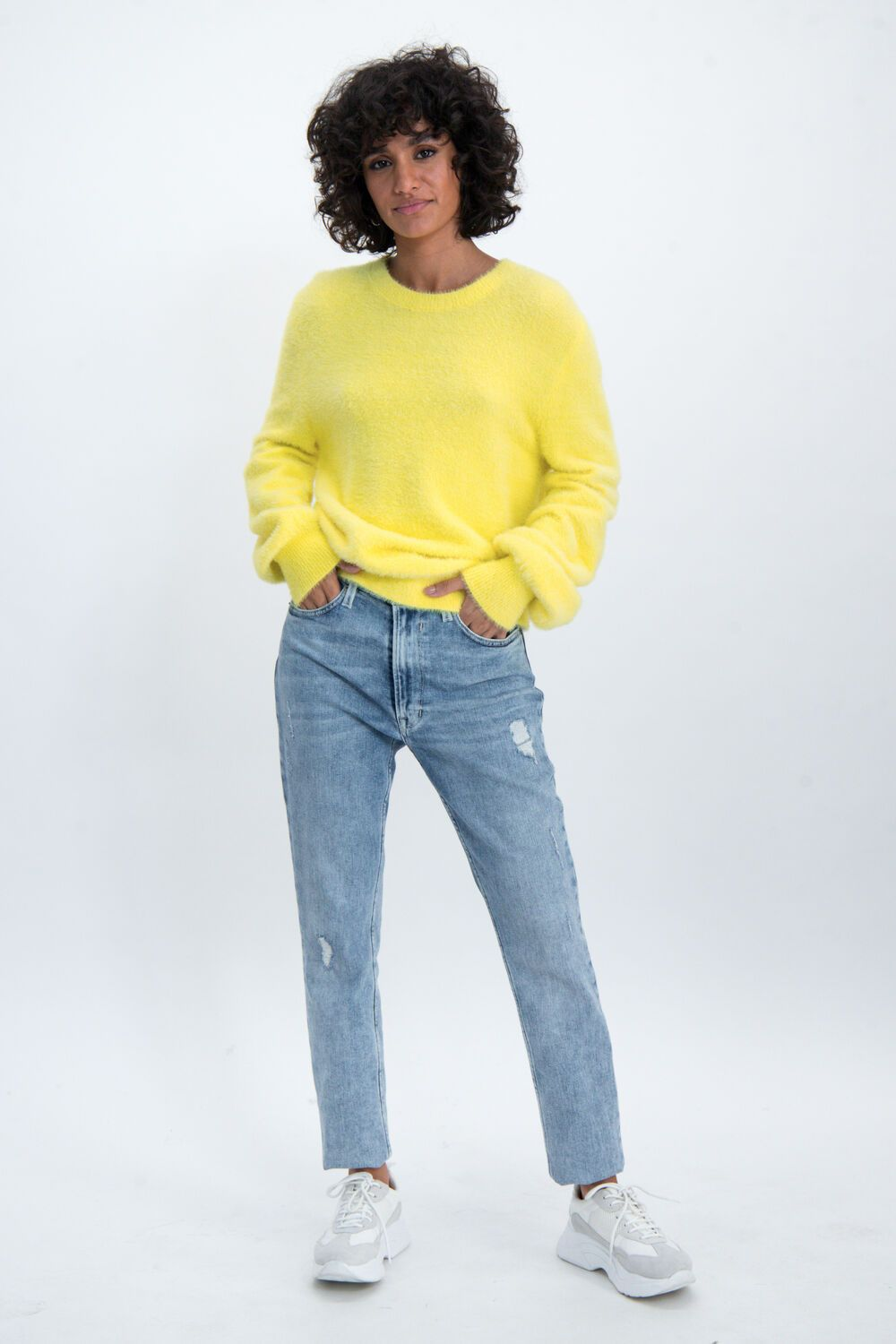 Garcia Womens Sweater - Yellow | Shop Garcia at Wallace and Gibbs