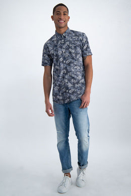 Mens S/S Shirt - Blue | Shop Garcia at Wallace and Gibbs