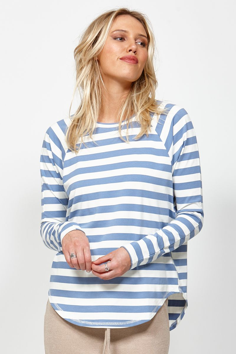 Ketz-ke Wide Stripe Slouch Tee | Shop Ketz-ke at Wallace & Gibbs NZ