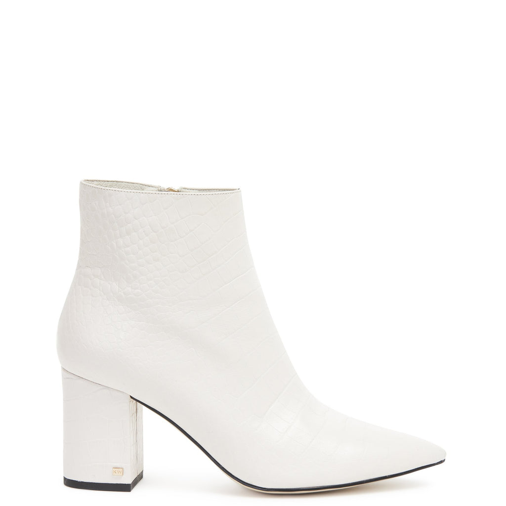 Bradshaw Boot White Croc | Shop Kathryn Wilson at Wallace and Gibbs