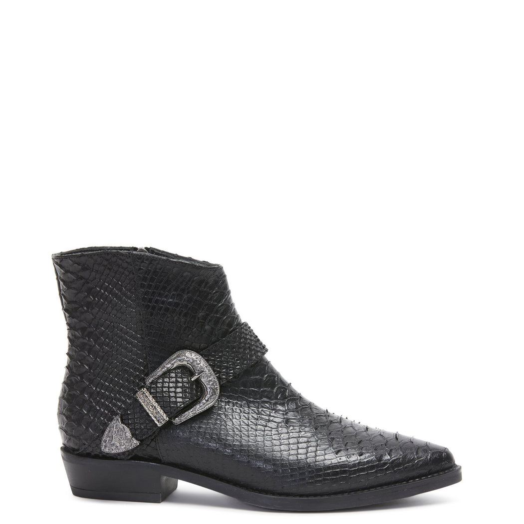Liberty Boot Black Snake | Shop Kathryn Wilson at Wallace and Gibbs NZ