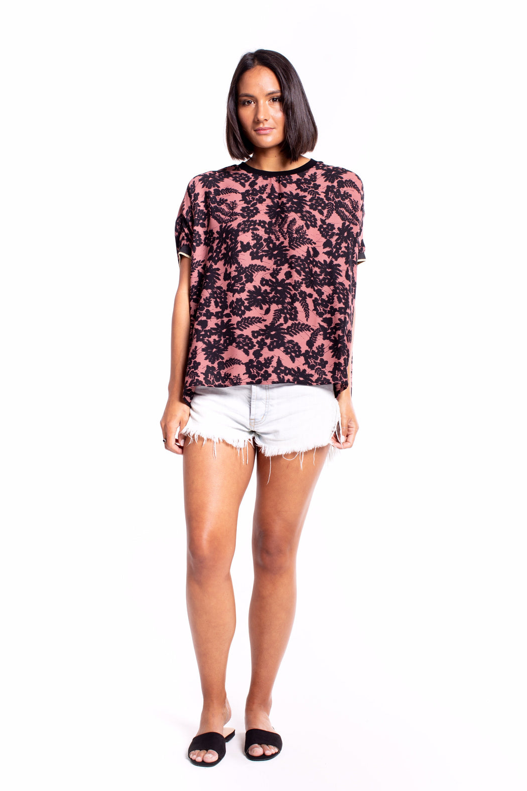 Et Alia Sienna Top - Rose Dawn Print | Shop at Wallace and Gibbs NZ