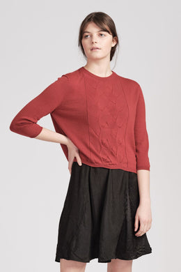 From Edith Jumper Raspberry | Shop online | NZ Made knitwear