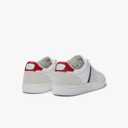 Lacoste Mens Courtline Leather Trainers | Mens Footware at Wallace and Gibbs