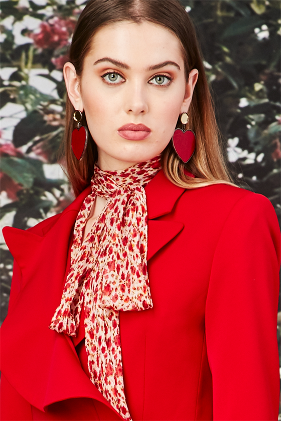 Trelise Cooper Tying The Knot Blouse Red Floral | Shop at Wallace and Gibbs