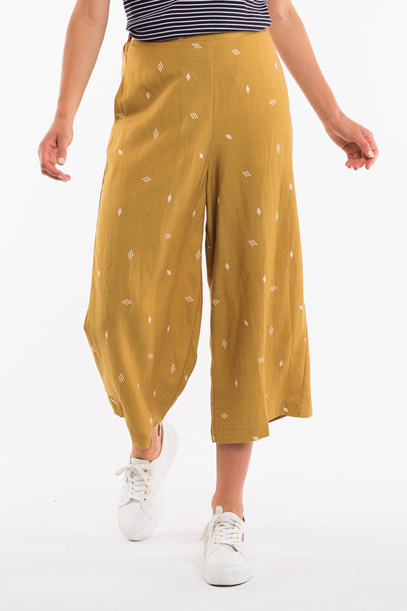 Elm Matilda Wide Leg Pant - Gold | Shop Elm at Wallace & Gibbs in Arrowtown, NZ