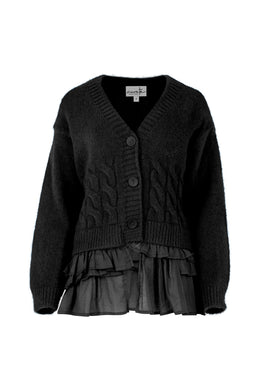 Curate Blue Moon Cardigan - Black | Shop Curate at Wallace & Gibbs NZ