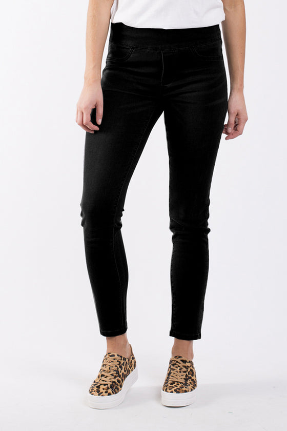 Elm Leah Jegging Washed Black | Shop Elm at Wallace & Gibb