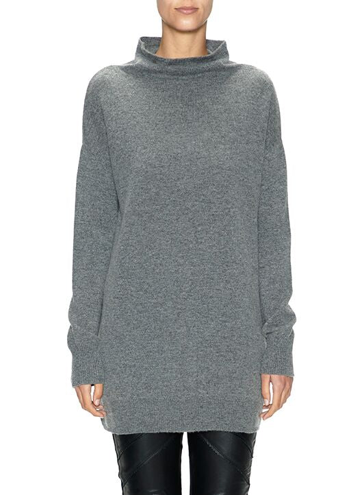 Funnel Neck Top - Thunder | Shop Sabatini at Wallace and Gibbs