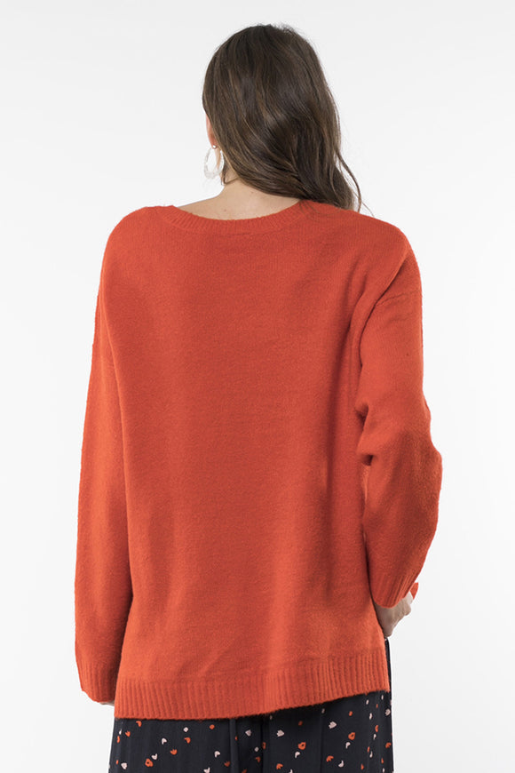 Elm Morning Mist Knit Orange | Shop Elm at Wallace & Gibbs NZ