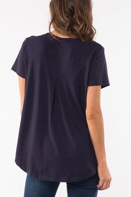 Elm Sierra Luxe Tee - Navy | Shop Elm at Wallace & Gibbs NZ