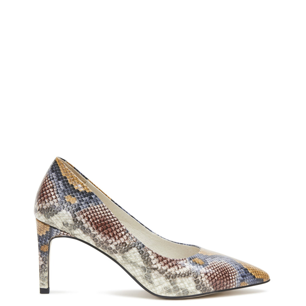 Kylie Heel Python Multi | Shop Kathryn Wilson at Wallace and Gibbs NZ
