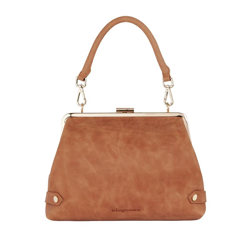 Lily Clutch - Vintage Tan | Shop Arlington Milne at Wallace and Gibbs