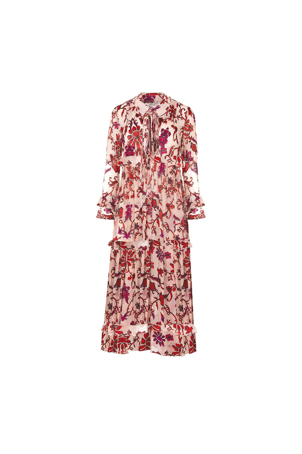 Trelise Cooper Frill The End Of Time Dress Pink Floral | Shop at Wallace and Gibbs