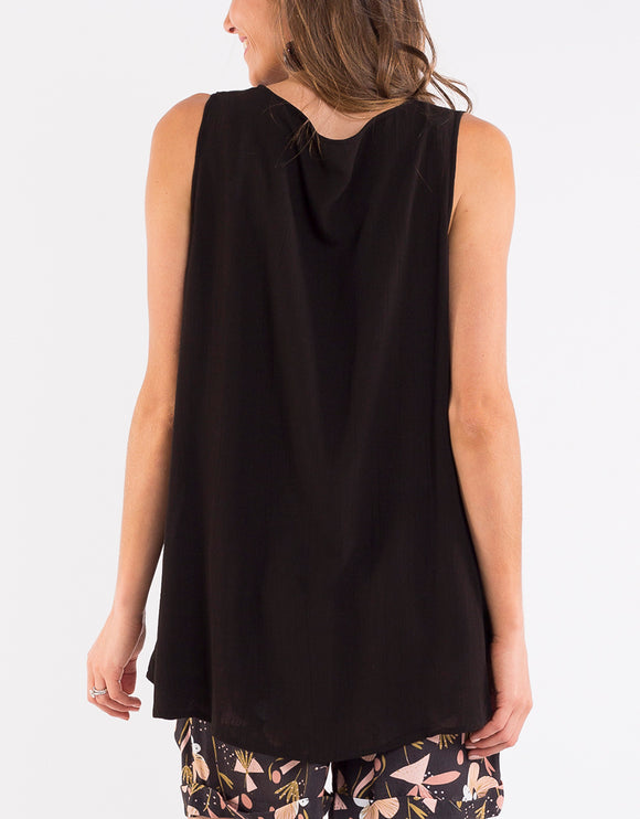 Elm Slone Layer Tank - Black shop online or in store at Wallace&Gibbs