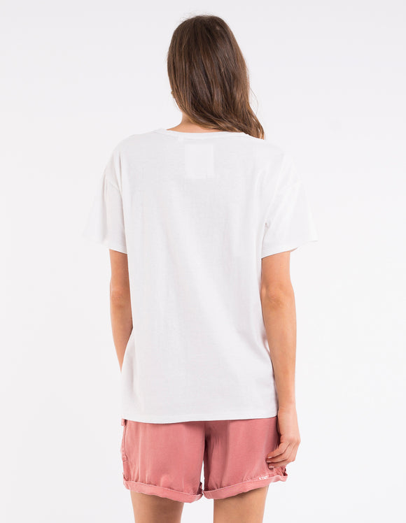 Elm Sparkle All Day Tee - White shop online or in store at Wallace&Gibbs