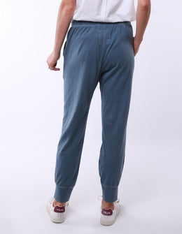 Elm Wash Out Lounge Pant - Steel Blue | Shop Elm at Wallace & Gibb