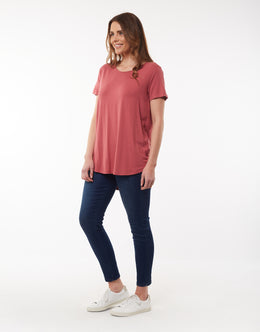 Elm Sierra Luxe Tee - Deep Rose | Shop Elm at Wallace & Gibbs NZ