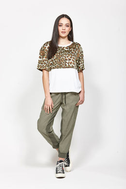 Ketz-ke Hopeful Tee Khaki | Shop Ketz-ke at Wallace and Gibbs