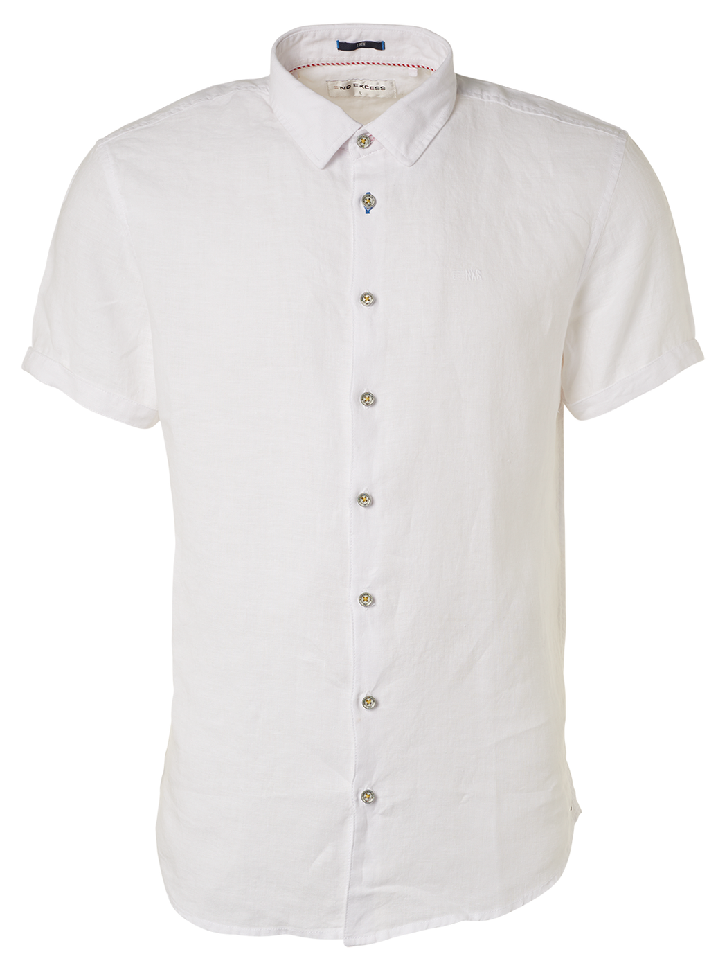 Mens S/S Linen Shirt - White | Shop No Excess at Wallace and Gibbs