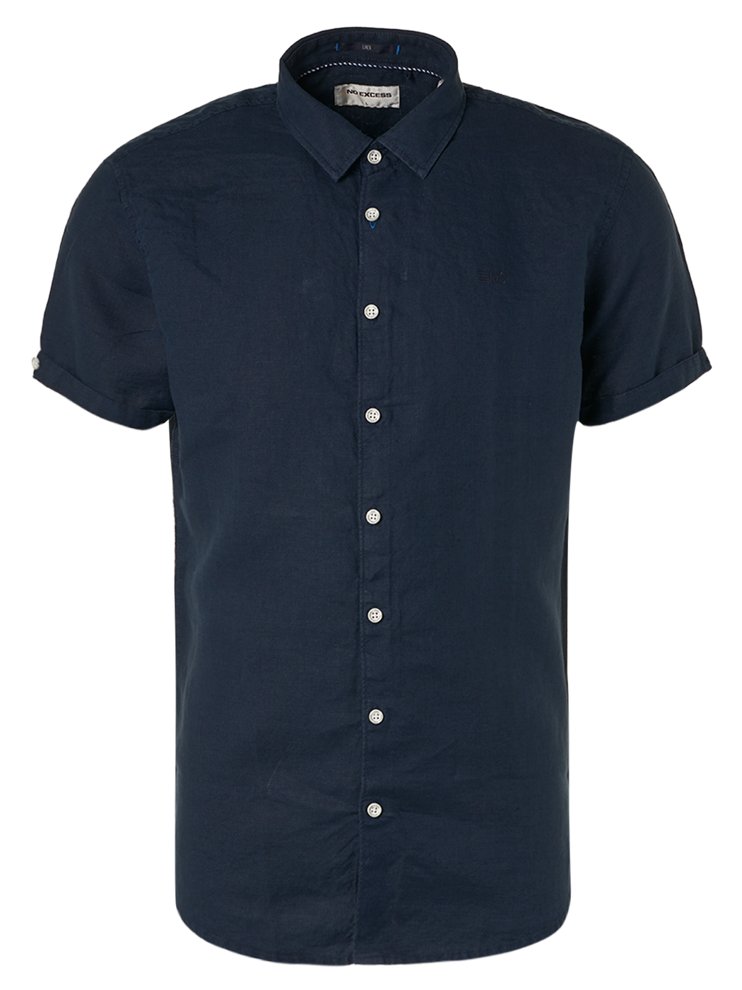 Mens S/S Linen Shirt - Night | Shop No Excess at Wallace and Gibbs